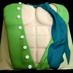 California-sexy-He-Man-Green-shirt-tie-erotic-torso-chest-cake